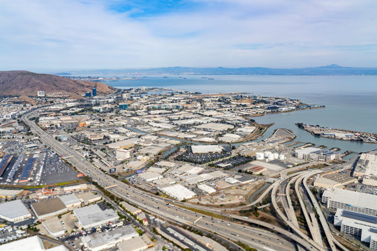 Aerial view of the South San Francisco area