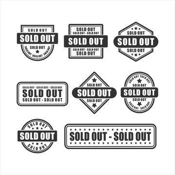 badge Soldout  vector design collection