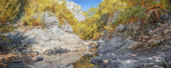 Youth Bath - Kara-gol in the Grand Canyon of Crimea, the village of Sokolinoye, Bakhchisarai district