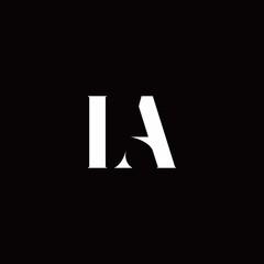 LA Logo Letter Initial Logo Designs Template