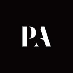 Obraz PA Logo Letter Initial Logo Designs Template - fototapety do salonu