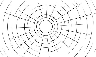 Set of lines in circle form. Geometric shapes. Monochrome background. Trendy design elements for border frames for pictures, web pages, prints, template, logos and textile pattern