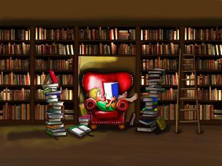 Endlich Ruhe zum lesen.