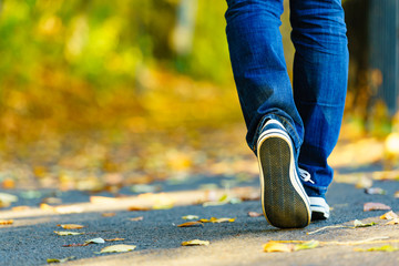 Person wearing casual sneakers outdoor