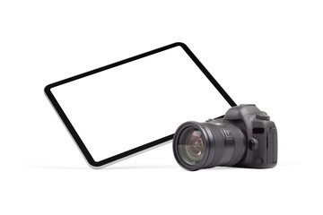 Digital tablet and DSLR photo camera graphics element