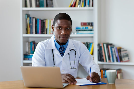 African american mature male doctor