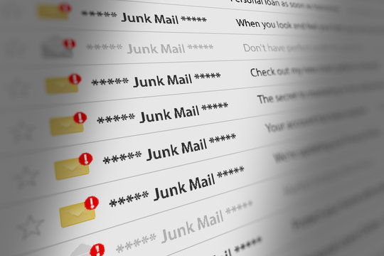 Close Up Shot of Junk Mail Box UI on Webmail