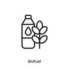 biofuel icon vector sign symbol