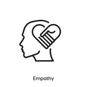 Empathy icon vector. Empathy icon vector symbol illustration. Modern simple vector icon for your design. Compassion icon vector.