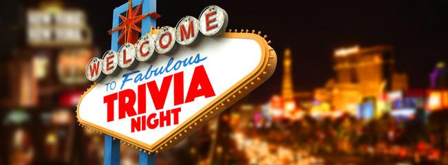 Keuken foto achterwand Las Vegas Welcome to fabulous Trivia Night