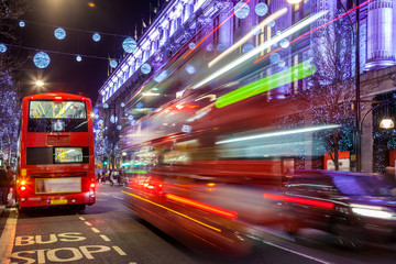 Spoed Foto op Canvas Londen rode bus Red Buses of London