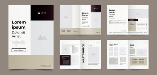 minimalist brown brochure page template
