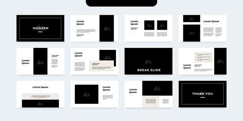 minimal style presentation template