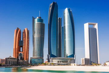 Foto auf Acrylglas Abu Dhabi Etihad Towers in Abu Dhabi, United Arab Emirates
