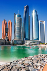 Autocollant pour porte Abou Dabi Etihad Towers in Abu Dhabi, United Arab Emirates