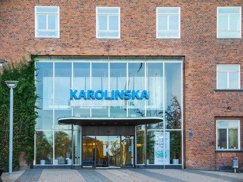 Entrance of Karolinska Institute in Sweden