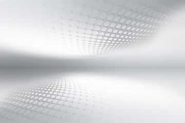 Wall Mural - Luxury gray and white halftone perspective interior background.