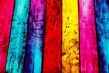 Colorful striped glass background.
