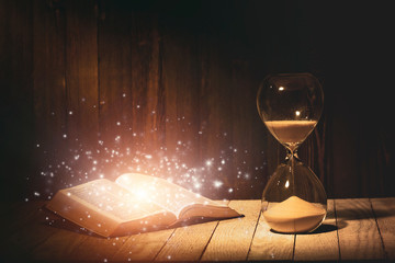 Hourglass and Holy Bible