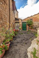 Tuscan Medieval Village Monticchiello Tuscany Italy