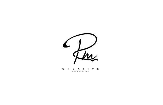 Signature Logotype Letter RM Monogram
