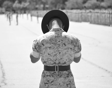 US Marine Drill Instructor