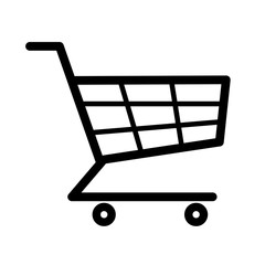 Vector shopping cart Icon on white background