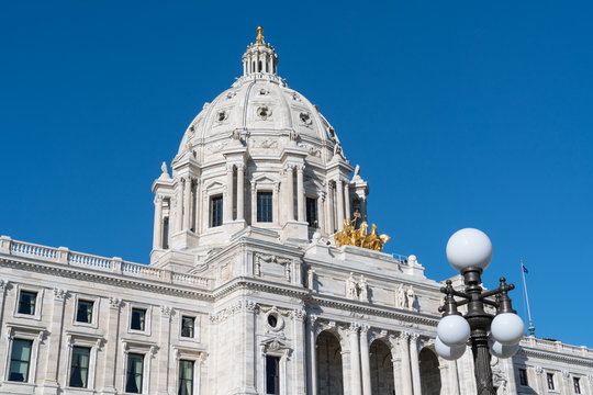 Dome of the Minnesota State Capitol Building in St Paul