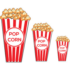 Pop corn background cartoon retro vector illustration