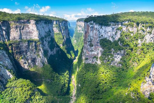 Beautiful landscape of Itaimbezinho Canyon - Cambara do Sul, Rio Grande do Sul - Brazil