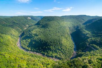 Poster Zuid Afrika Beautiful view of Horseshoe Valley (Valle da Ferradura) - Canela, Rio Grande do Sul - Brazil