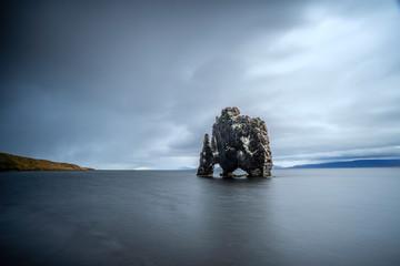 rock monolith of Hvitserkur in north western Iceland