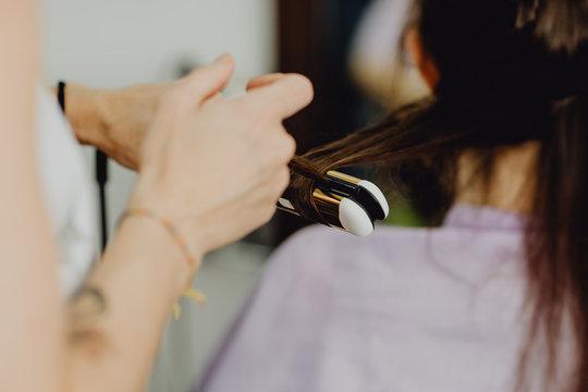 Se faire lisser ses cheveux