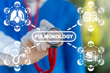 Pulmonology Health Respiratory Lung Disease Treatment Concept.