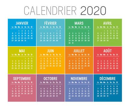 Calendrier Agenda 2020