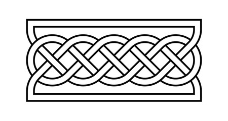 Celtic rectangular knot