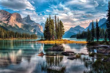 Spirit Island - Maligne Lake - Jasper National Park Fotomurales