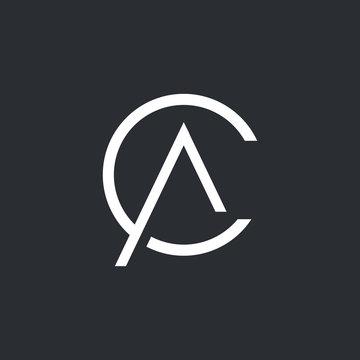 CA Logo. CA Letter Icon Design Vector Illustration.