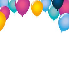 Balloons design, Party happy birthday festival celebration holiday decoration enjoyment and entertainment theme Vector illustration