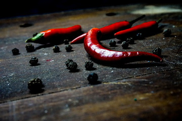red hot pepper on a dark background