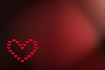 Graphic creation for a valentine or anniversary card with space to insert according text