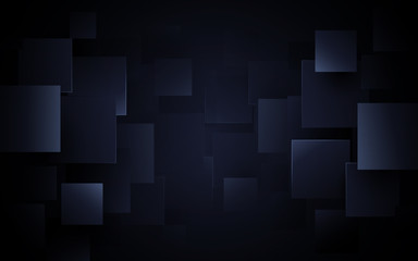 Wall Mural - Creative abstract geometric pattern dark blue background