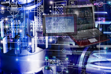 computing engineering technology idea concept background