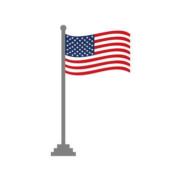 United States of America flags icon vector design symbol