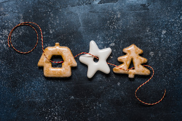 Christmas Gingerbread, copy space