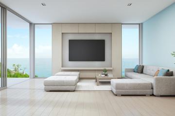 大きなテレビとソファーのライフスタイル