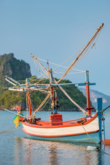 Wooden fishing boat in Thailand
