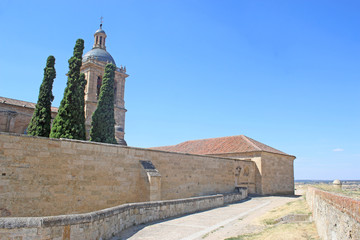 Ciudad Rodrigo City walls and  Cathedral, Spain