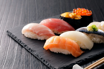 Photo sur Aluminium Sushi bar 寿司 Sushi. Japanese food