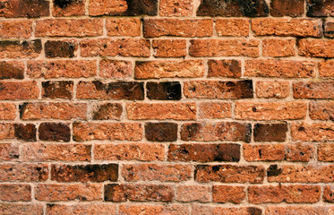 old red brick wall background